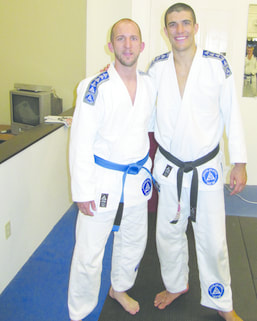 Mr. Clemmer with Professor Rener Gracie